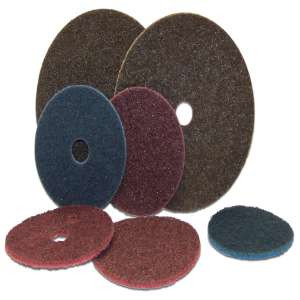 """HIGH PERFORMANCE by Flexovit H0427J 4"""" HOOK & LOOP GENERAL PURPOSE FINE BLUE Surface Conditioning Disc"""