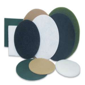 """SPECIALIST by Flexovit X1898 19"""" THICK WHITE POLISHING Nylon Floor Pad"""