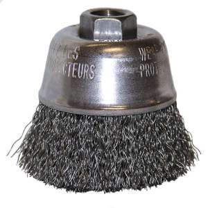 """HIGH PERFORMANCE by Flexovit C1690P 2-3/4""""x5/8-11 .014 CARBON CRIMPED Wire Cup Brush/Clamshell"""