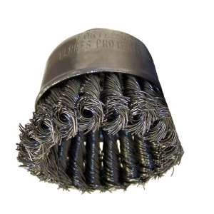 "HIGH PERFORMANCE by Flexovit C1480P 2-3/4""x5/8-11 .020 CARBON KNOTTED Wire Cup Brush/Clamshell"