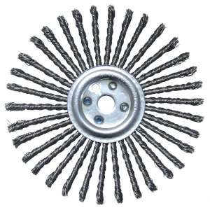 "HIGH PERFORMANCE by Flexovit C1425 12""x3/8""x1""(D-1) .035 CARBON KNOTTED Expansion Joint Brush"