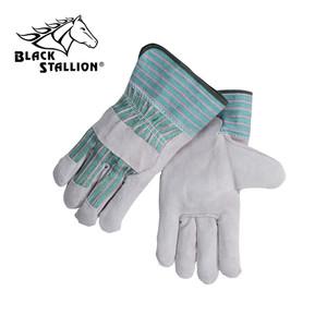 Revco Black Stallion 5BE Gray Split Cowhide Leather Gloves Qty 12