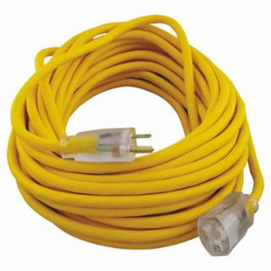 100' YELLOW INDOOR/OUTDOOR EXTENSION CORD