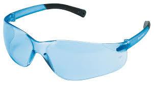 BearKat Protective Glasses, Light Blue Polycarbonate Scratch-Resistant Lenses