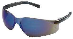 BearKat Protective Glasses, Blue-Mirror Polycarbonate Scratch-Resistant Lenses-Box of 12