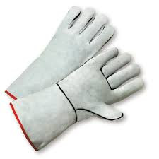 Standard Grey Split Cowhide Leather Welder Gloves 930