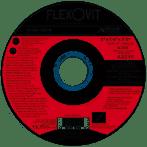 """Flexovit 5"""" x 1/4"""" x 7/8"""" T-27 A30S Depressed Center Grinding Wheel 25/bx"""