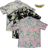 Easter Island Orchid Men's Hawaiian Shirts