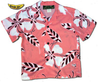 Boys Tropical Hibiscus Hawaiian Shirt