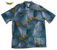 Blue Fan Palm Men's Hawaiian Shirt