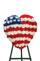 Patriotic Heart Standing Spray