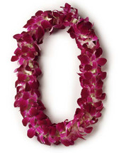Two (2) Double Dendrobium Orchid Leis<BR>PRE-ORDER