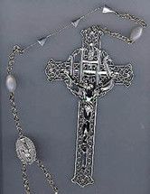 Small Rosary for Half Casket Lid