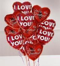 One Dozen Romance Mylar Balloons