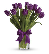 Purple Tulip Vase