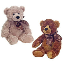 "16"" Cuddle Bear With Paw Print Ribbon by Fiesta"