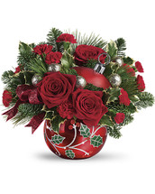 Teleflora Deck the Holly Ornament Bouquet
