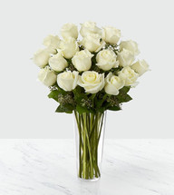 Long-stem red roses are just the gift for the one you can trust, the one you can turn to, the one who loves you above all else and knows your heart inside out. Give the ultimate expression of romance with this stunning, hand-crafted arrangement of long-stem white roses in a classic glass vase. A gift of love they'll always remember--and so will you