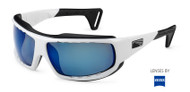 Lip Sunglasses Typhoon Watershades white frame with blue lenses