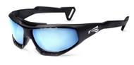 Lip Sunglasses Surge Watershades matte black frame with blue lenses