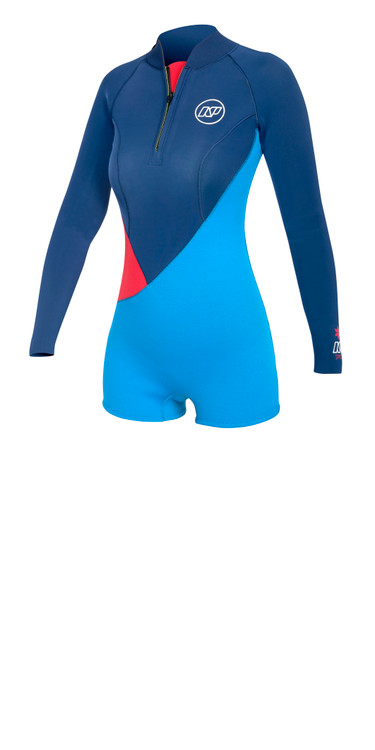 NP Spice Springsuit 3/2 Back Zip Women's Wetsuit red/blue 60% off!