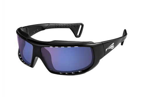 Lip Sunglasses Typhoon Watershades Matte Black frame with Blue lenses