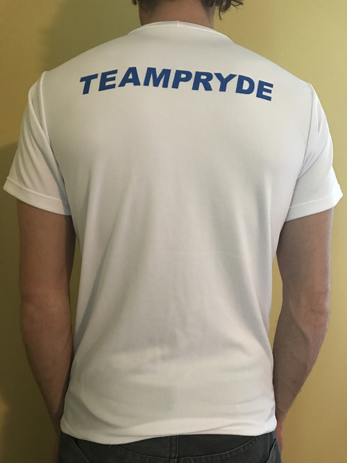 Neil Pryde white kiteboarding hydrotex water shirt front.