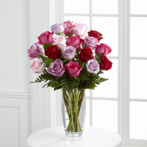 TheCaptivating Color Rose Bouquet by Vera Wang
