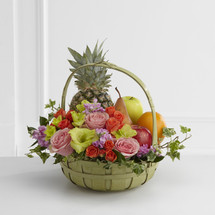 The Rest in Peace Fruit & Flowers Basket