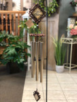 """Bronze Wind Chime 35"""" Sayings vary. (LOCAL DELIVERY ONLY) Stand not included"""