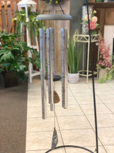 "Wind Chime 44"" with Verse. Sayings vary. (LOCAL DELIVERY ONLY) Stand not included"