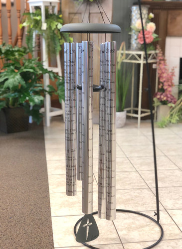 "Wind Chime 55"" with Verse. Sayings vary. (LOCAL DELIVERY ONLY) Stand not included"
