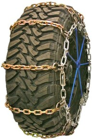 Quality Chain 3129HDQC - Wide Base Heavy Duty 8mm Alloy Square Link Tire Chains (Cam)