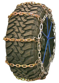 Quality Chain 3131HDQC - Wide Base Heavy Duty 8mm Alloy Square Link Tire Chains (Cam)