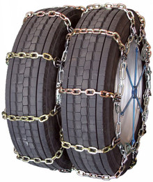 Quality Chain 4128HDQC - Dual/Triple Heavy Duty 7mm Alloy Square Link Tire Chains (Cam)