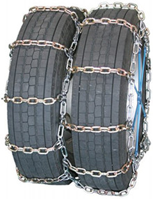 Quality Chain 4138RHD - Dual/Triple Heavy Duty 8mm Alloy Square Link Tire Chains (Non-Cam)