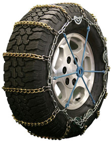 Quality Chain 2127SLCTWIST - 5.5mm Alloy Twisted Square Link Tire Chains (Cam)