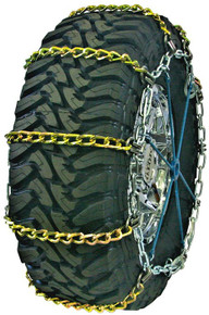 Quality Chain 3127SLCTWIST - Wide Base 7mm Alloy Twisted Square Link Tire Chains (Cam)