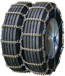 Quality Chain 4129SLCTWIST - Dual/Triple 5.5mm Alloy Twisted Square Link Tire Chains (Cam)