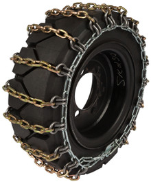 Quality Chain 1504HDSL-2 8mm Alloy Square Link Skid Steer Tire Chains (2-Link Spacing)