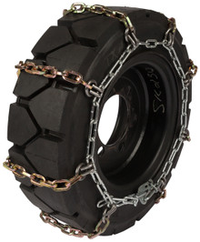 Quality Chain 1504HDSL 8mm Alloy Square Link Skid Steer Tire Chains