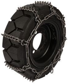 Quality Chain 1504STUDDED 8mm Premium Alloy Studded Link Skid Steer Tire Chains