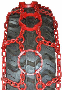 Quality Chain RA231-14 Alloy Ring Forestry Skidder Tire Chains