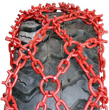 Quality Chain NC245-16 Studded Net Alloy Forestry Skidder Tire Chains