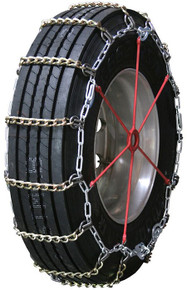 Quality Chain 2155SLCTWIST - 8mm Alloy Twisted Square Link Truck Tire Chains (Cam)