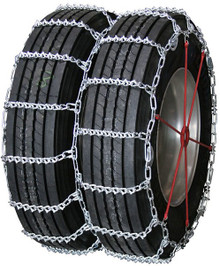 Quality Chain 4845QC - Road Blazer Dual/Triple 7mm V-Bar Link Truck Tire Chains (Cam)