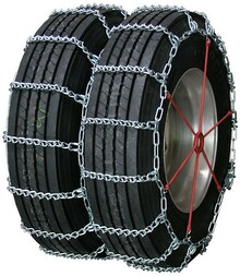 Quality Chain 4841 - Road Blazer Dual/Triple 7mm V-Bar Link Truck Tire Chains (Non-Cam)