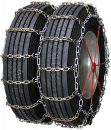 Quality Chain 4141RHD - Heavy Duty Dual/Triple 8mm Alloy Square Link Truck Tire Chains (Non-Cam)
