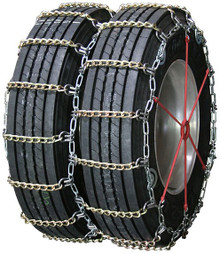 Quality Chain 4155SLCTWIST - Dual/Triple 8mm Alloy Twisted Square Link Truck Tire Chains (Cam)