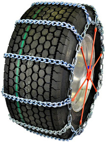 Quality Chain 3455HH - Wide Base Mud Service 10mm Link Truck Tire Chains (Non-Cam)